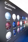 Metallic Colours. Sample Metallic Colours For Cars royalty free stock photography