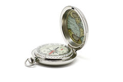 metallic compass open Royalty Free Stock Images