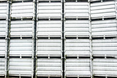 Metallic containers pattern Royalty Free Stock Photography