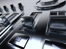 Metallic control panel Royalty Free Stock Image