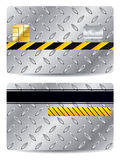Metallic credit card Royalty Free Stock Photos