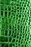 Metallic crocodile skin leather texture Stock Photo