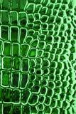 Metallic crocodile skin leather texture Stock Photo