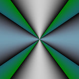 Metallic Cross on Green and Blue Background Royalty Free Stock Photo