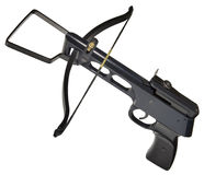 Metallic Crossbow Cutout Royalty Free Stock Images