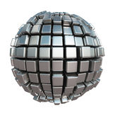 Metallic cube sphere Stock Image