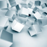 Metallic cubes Royalty Free Stock Photos