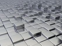 Metallic cubes Royalty Free Stock Images