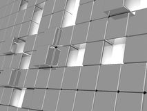 Metallic cubes Stock Images