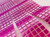 Metallic Cubes Background in Violet. 3D Metallic Cubes Background in Violet Stock Photography