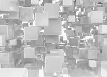 Metallic cubes 3d background Stock Image