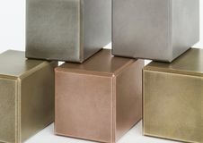 Metallic cubes Stock Photo