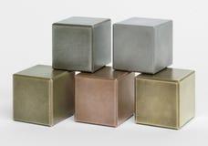 Metallic cubes Royalty Free Stock Photos