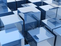 Metallic cubes Stock Image