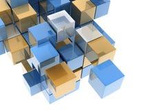 Metallic cubes Stock Photos