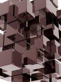 Metallic cubes Stock Photography