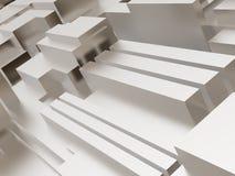 Metallic cubic surface Royalty Free Stock Photos