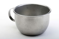 Metallic Cup. An empty and blank metallic cup Stock Photo