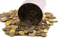 Metallic currency Royalty Free Stock Image