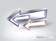Metallic 3d arrows Stock Image