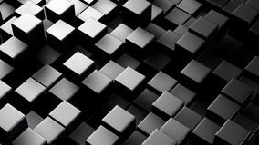 Metallic 3D boxes. Abstract background. High contrast metallic 3D boxes. Computer generated abstract background Royalty Free Stock Photography