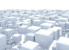 Metallic 3d cubes background Stock Photo