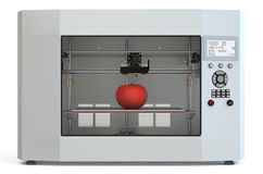Metallic 3d printer with food Stock Images