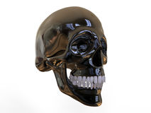 Metallic 3D skull Royalty Free Stock Image