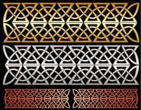 Metallic designs Stock Image