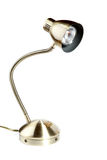 Metallic desk lamp,isolated object Royalty Free Stock Photo