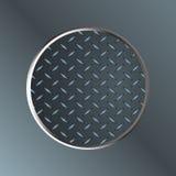 Metallic diamond border on metal plate Royalty Free Stock Photo