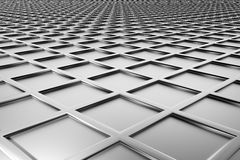 Metallic diamond flooring perspective view Royalty Free Stock Photo