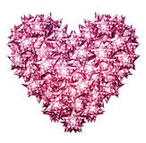 Metallic Diamond Star Heart. Digital Illustration of star shaped diamonds formed into the shape of a heart. Includes a clipping path Royalty Free Stock Photos