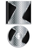 Metallic disc and cover design Stock Photo