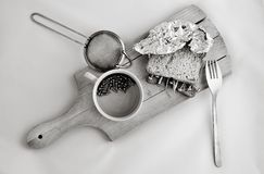 Metallic dish breakfast Stock Photography