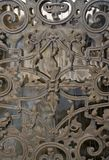 Ornamented door detail Royalty Free Stock Photo