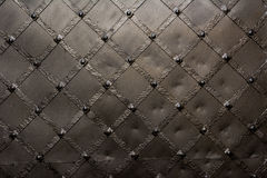 Metallic door texture. Old black metallic door background Royalty Free Stock Images