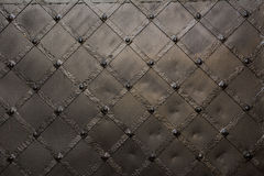 Metallic door texture. Old black metallic door background Stock Photography