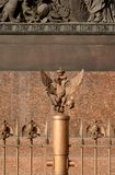 Metallic double-headed eagle. Metallic double-headed eagle, russian imperial symbol on Palace Square, St. Petersburg, Russia royalty free stock photos