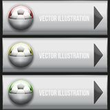 Metallic Dropdown sport menu. Vector illustration. Royalty Free Stock Photography