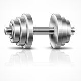 Metallic dumbbell Royalty Free Stock Images