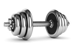 Metallic dumbbell Royalty Free Stock Photography