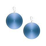 Metallic earrings isolated on white background Royalty Free Stock Image