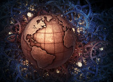 Metallic Earth globe Stock Photos