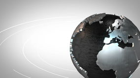 Metallic Earth stock video footage
