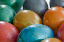 Metallic easter eggs Royalty Free Stock Image