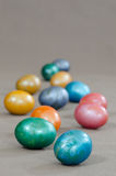 Metallic easter eggs Stock Image
