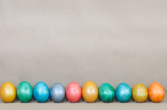 Metallic easter eggs Royalty Free Stock Photography