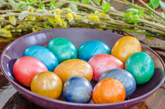 Metallic easter eggs Royalty Free Stock Photo