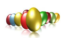 Metallic Eggs Royalty Free Stock Photos